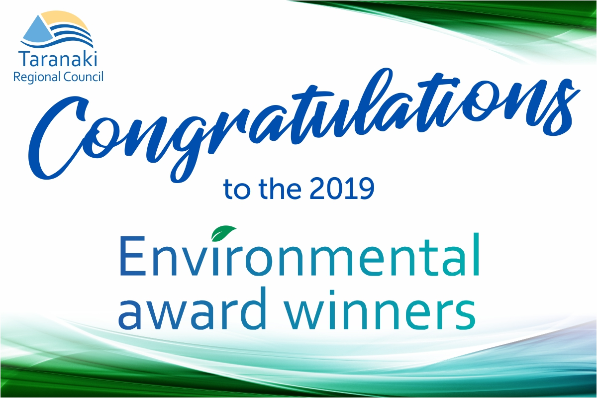 Taranaki Regional Council Environmental Award Winners
